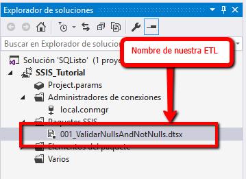 Validar datos en SSIS IsNull And IsNotNull