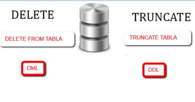 Diferencia entre truncate y delete