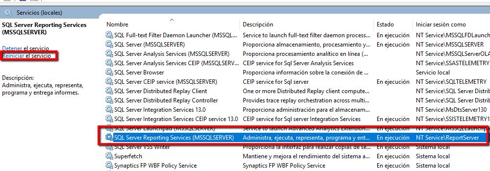 Acceso anonimo en sql server reporting services